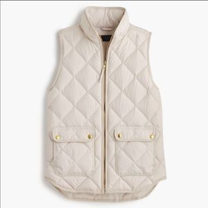 J. Crew Excursion Down Quilted Puffer Vest: Sand